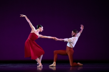 Isabella Boylston and James Whiteside in The SeasonsPhoto Christopher Duggan
