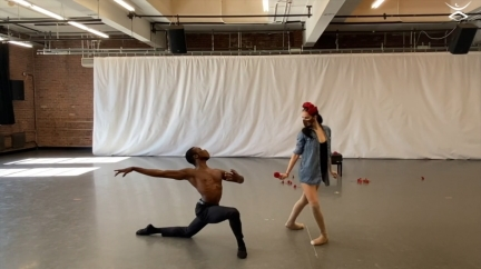 Sanford Placide and Yinet Fernandez in Spectre by Daphne LeeStill from streaming