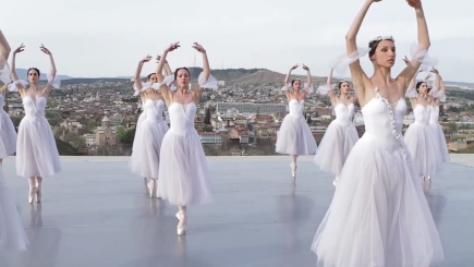 State Ballet of Georgia. Giselle on the rooftopStill from film