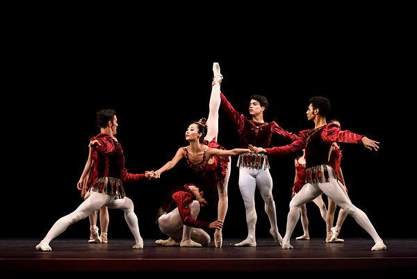 San Francisco Ballet in George Balanchine's RubiesPhoto Erik Tomasson