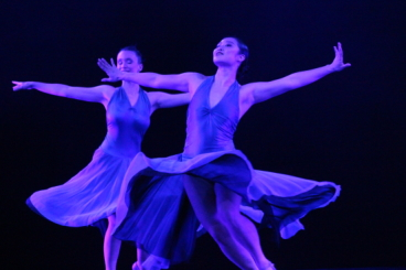 Lucia Cardona and Elisa Cho Hsieh in 'All Blues' from Touches of MilesPhoto courtesy BOP Jazz Theatre